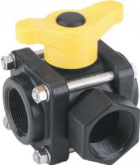 Banjo 3 Way Ball Valve - T Port 9901-V075SL
